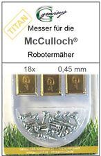 18 TITAN Ersatz - Messer Klingen 0,45mm für McCulloch Rob R600 R1000 Mc Culloch