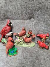 Vintage Cardinal Figurines Set Of 4 Unbranded