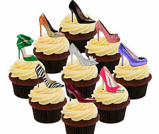 I Love Shoes - 36 Edible Cupcake Toppers, Stand-up Cake Bun Decorations, Female