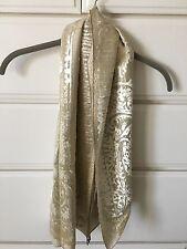 Marion Clayden Burnt Out Silk Velvet Scarf
