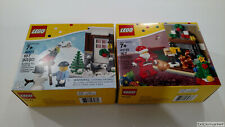 Lego Exclusives 40124 & 40125 Santas Visit & Winter Fun Christmas NISB RETIRED
