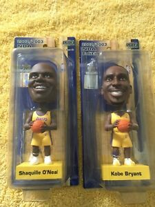 Lot of 2 PlayMakers Lakers BobbleHeads Kobe Shaq NBA Edition 2002-03 & LA Times