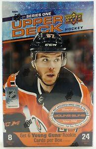 2020-21 Upper Deck Series 1 Hockey Hobby Sealed Case (12 boxes) - 24 Packs / box