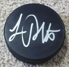 LUC ROBITAILLE LOS ANGELES KINGS RED WINGS SIGNED AUTOGRAPH PUCK E w/PROOF