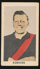 1948 Kornies Essendon R McClure No 33 card from A Series Of  64 Bombers