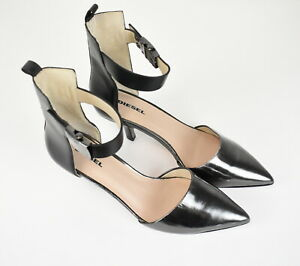 RRP $215 DIESEL D'ORSAY Women UK 5.5 EUR 38 Patent Leather Kitten Heels 17769_