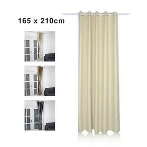 Insulated Thick Thermal Blackout Door Curtains  Eyelet Ring Top + Tie Back