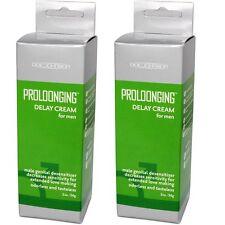 2 PK Doc Johnson Proloonging Prolong Delay Cream Desensitizer Lube 2 oz