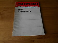 Suzuki, Parts catalogue TSS50 , 1st edition , Printed 1971 , 99000 91590