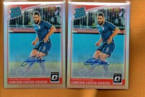 Cameron Carter-Vickers 2019 Donruss Optic Rated Rookies Holo Prizm RC Auto Lot 2