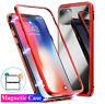 360° Magnetic Adsorption Metal Tempered Glass Case Cover for iPhone 11 Pro Max X