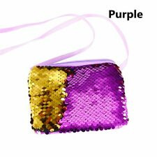 Women Girls Make-up Sequins Mermaid Glitter Handbag Evening Clutch Bag Wallet--