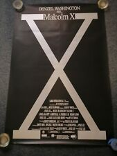 Original Malcolm X Movie Poster unfolded one-sheet