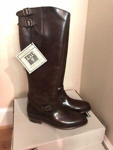 FRYE BOOTS Dorado Riding Dark Brown Leather Riding Boots 77561 SZ 7.5  $458