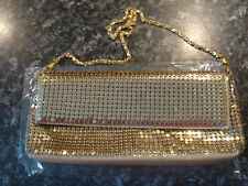 AVON Gold Evening Bag 24cm x 12cm Elegant/Metallic/Effect/Party/Formal/Prom/NEW