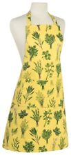 Now Designs Apron Les Fines Herbs 100% Cotton One Size Green Yellow