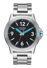 NIXON CARDIFF Men's 44 MM Stainless Steel Watch A952018-00 NEW! USA SELLER!