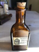Payson's Briggs apothecary bottle late 1800s early 1900s