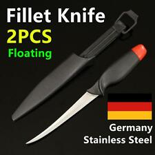 "2X 6"" Fish Filleting Knife GERMAN STAINLESS STEEL Fishing Diving Hunting Fillet"