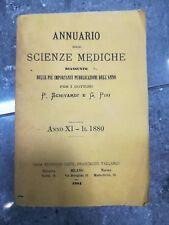 ANNUARIO DELLE SCIENZE MEDICHE PUBBLICAZIONI DELL'ANNO 1880 ED. 1881