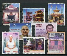 Nepal 2016 MNH Visit Nepal Temples & Famous People Neupane Pt II 8v Set Stamps