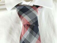 VALEUR 15 € WESTBURY NEUF Superbe cravate bordeaux gris  en soie Tie C&A