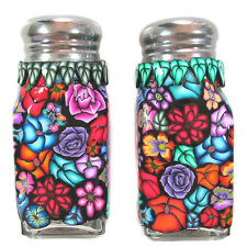 Salt and Pepper shaker set  polymer clay design by CHarm #SP16