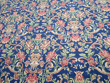 Mill Creek Fabrics Pattern Winston Color Sapphire 1 Yd x 53 In Cotton Floral