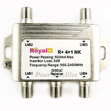 5pc Royal  4X1 Diseqc SATELLITE Receivers SWITCH HEAVY DUTY Sat CHIETA R+ 4x1 NK