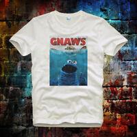 Sesame Street Cookie Monster Gnaws Vintage Retro Unisex & Ladies T Shirt 406b