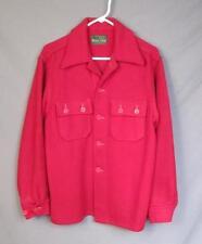 Vintage 1940s Western Field Red Wool Sportsmans Shirt Jacket M/L Montgomery Ward