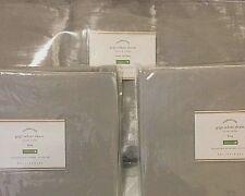 Pottery Barn GIGI velvet KING duvet cover 2 standard shams SILVER gray mist