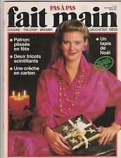 Fait Main Pas À Pas N°12 décembre 1985 Noël couture  broderie patrons crèche