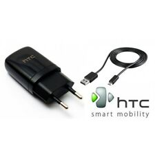 NEW HTC TC E250 5V 1A EURO Charger with USB Cable BLACK - WITH FREE CABLE!!