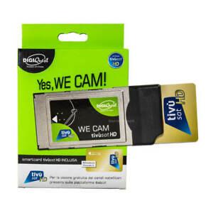 Tivusat Modul CI WE ( ohne Karte ) CAM CI+ für Tivùsat  BLAUE & Gold Karten NEU