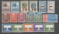 s36416 EUROPA CEPT 1957 MNH** 18v  Complete