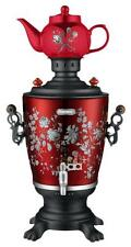 Russian modern electric Samovar 4L. Khohloma design.Электрический Самовар.