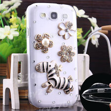 3D New Bling Clear Crystal Gem Diamonds Back TPU soft shell Case Cover For Apple