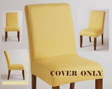 World Market ANNA Parsons Chair,ONE Cover ONLY,Cotton Yellow Gold Slipcover NEW