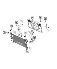 Genuine Mopar Radiator Cooling Fan Module 68360299AA