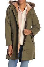Madewell Bedford Convertible Faux Fur Lined Parka Military Surplus Green Size XL