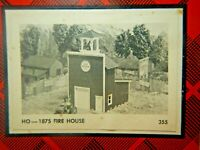 HO Kit Campbell Scale Model 1875 Fire House w/ Custom Bell Included see example