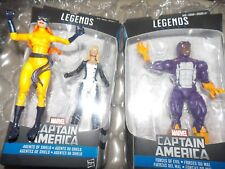 4-Marvel Legends Captain America's Hellcat, Cottonmouth + Mockingbird +whirlwind