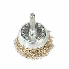 Sealey SCB50 Wire Cup Brush �50mm with 6mm Shaft