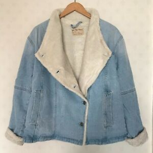 FREE PEOPLE WE THE FREE SLOUCH DENIM JACKET (SIZE XS) RRP £140