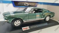 MAISTO 1:18 Scale Diecast Model Car 1967 Ford Mustang GTA Fastback in Green