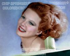 JEAN HARLOW RED HEADED WOMAN 8X10 BEAUTIFUL COLOR PHOTO BY CHIP SPRINGER