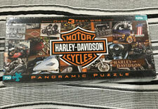 New Sealed Harley Davidson Motorcycles Panoramic Puzzle Buffalo 750 Piece NIP