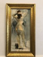 """Very Sensual Mid Century Modern"""" Back View Of Female  Nude"""" Signed Pascin"""