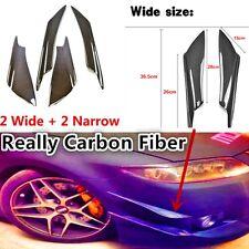 4 Pcs Universal Carbon Fiber Front Bumper Canards Splitters For Mitsubishi EVO